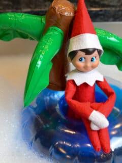 elf on the shelf pool float