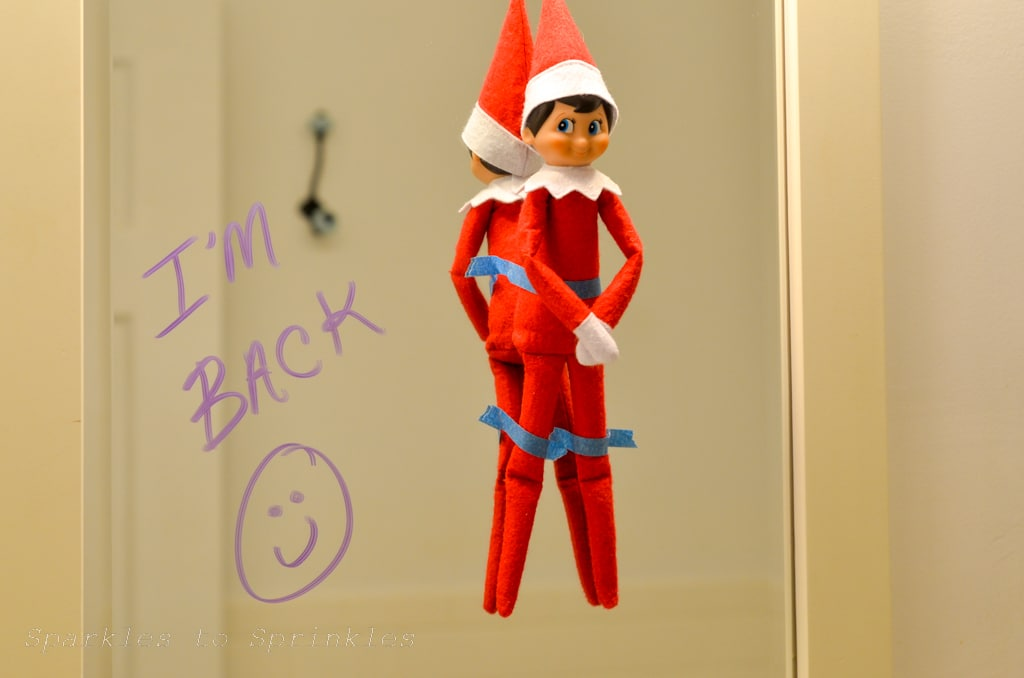 elf on the shelf im back