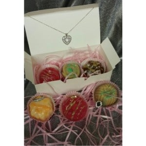 bejeweled truffle_soap_set