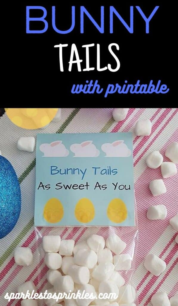 Bunny tails with printable