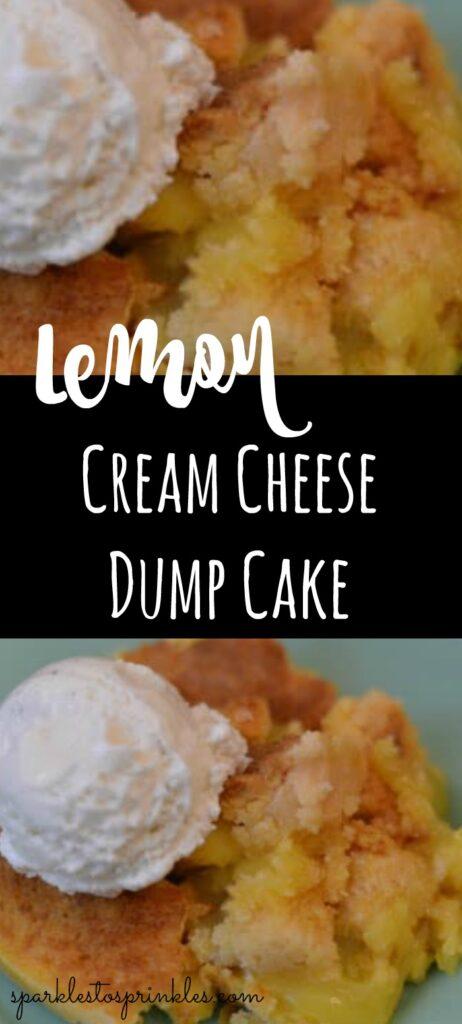 Lemon Cream Cheese Dump Cake