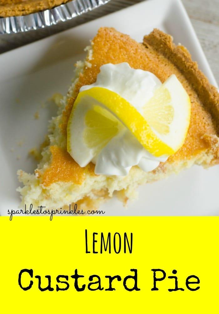 Lemon Custard Pie