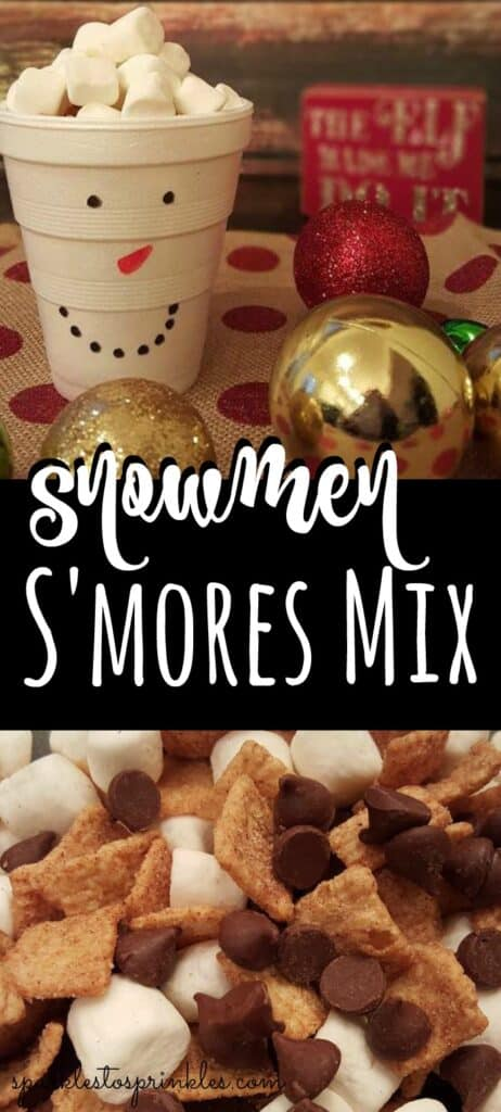 Snowmen S'mores Mix