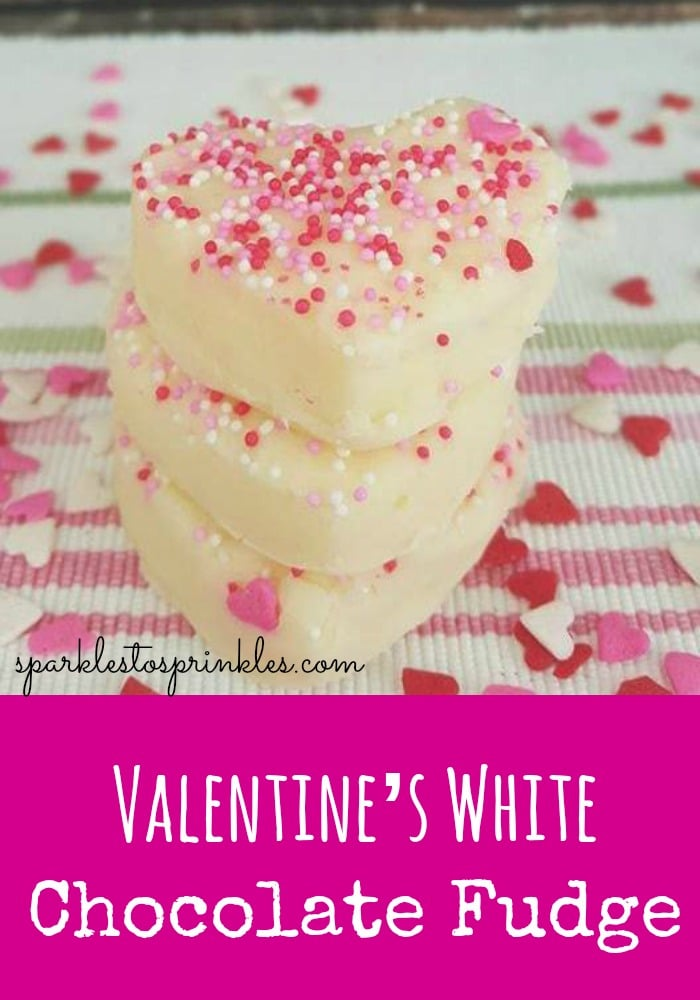 Valentine's White Chocolate Fudge