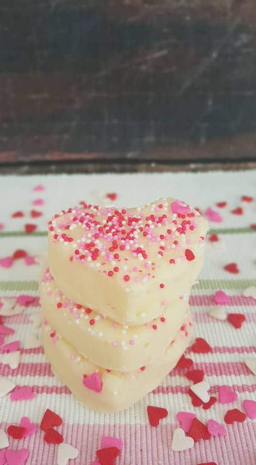 Valentine's White Chocolate Fudge