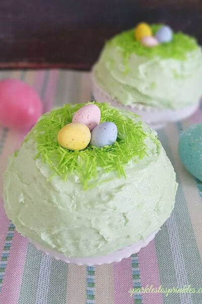 Bird's Nest Cake + Buttercream Frosting Recipe