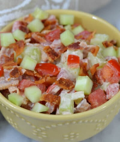 BCT Bacon Cucumber Tomato Salad