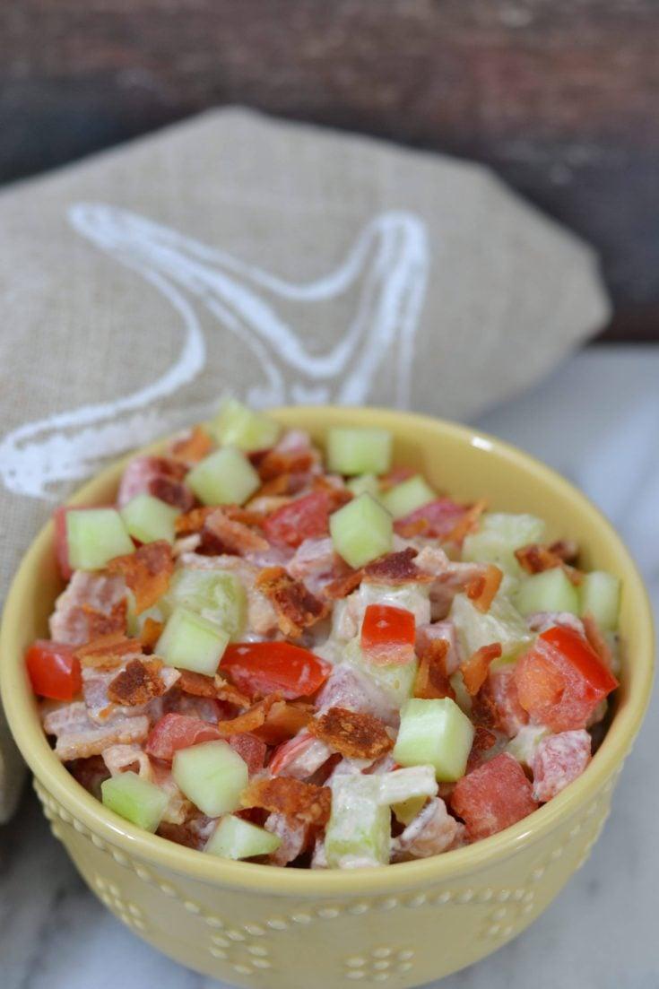 BCT Bacon Cucumber Tomato Salad