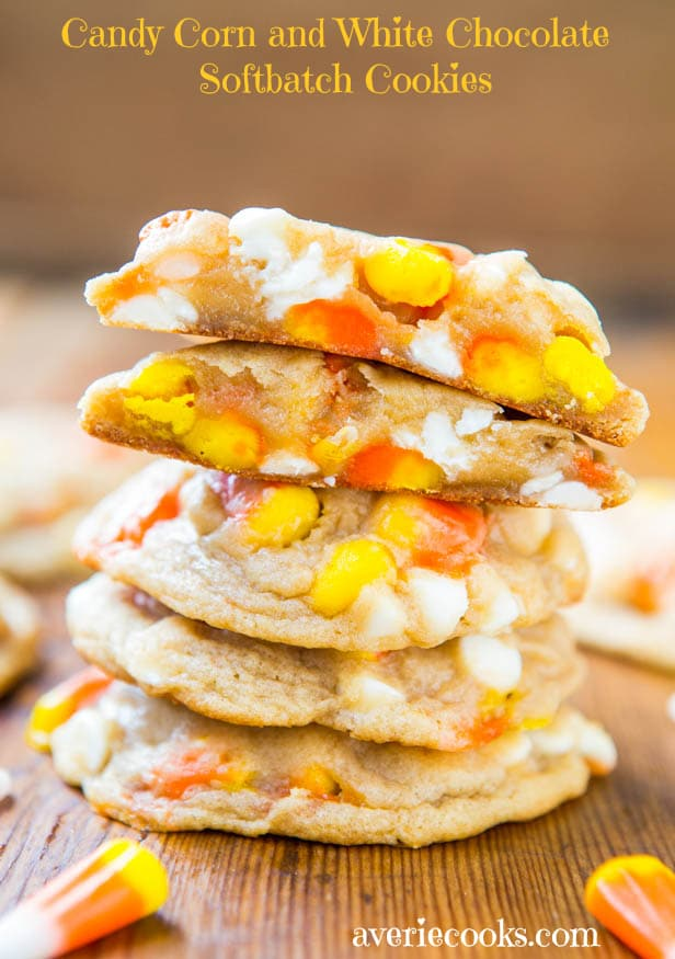 candy corn white cookies