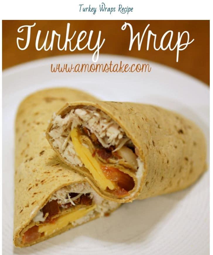 leftover turkey wrap