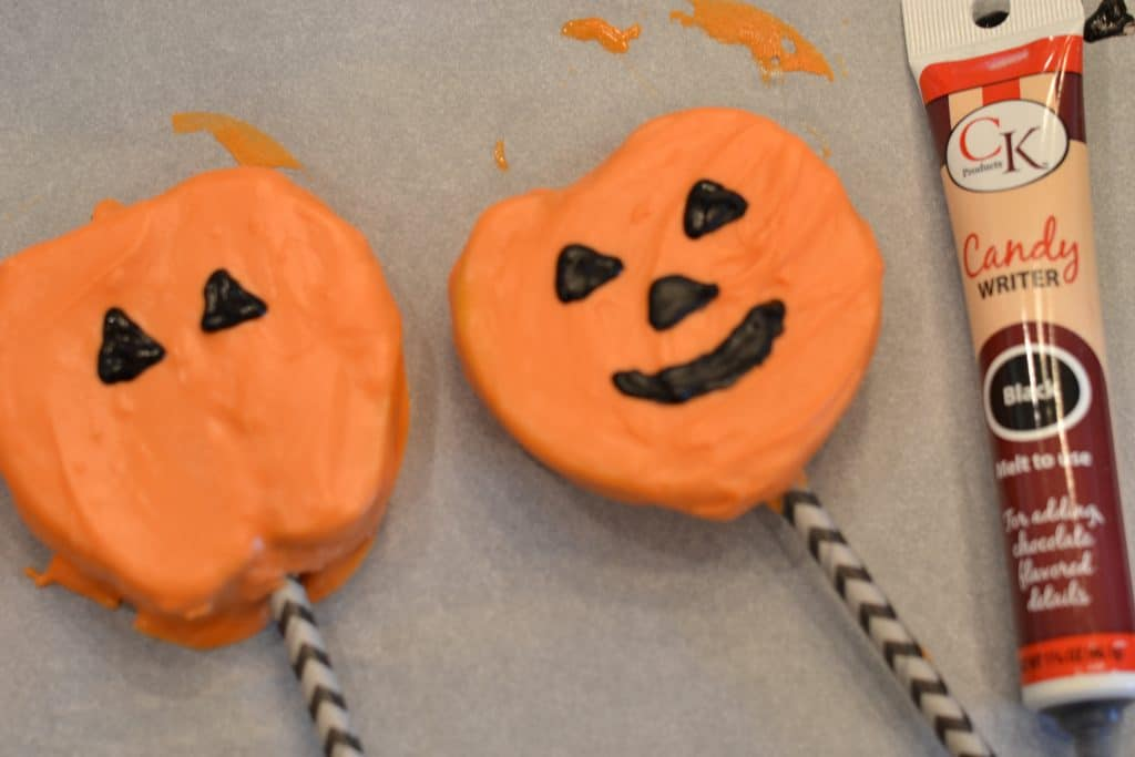 Chocolate Covered Apple Slices Pumpkins