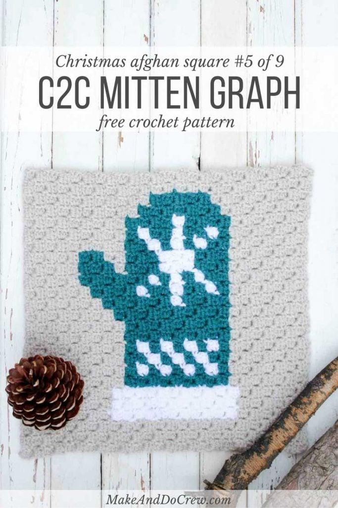 corner-to-corner-crochet-christmas-afghan-mitten