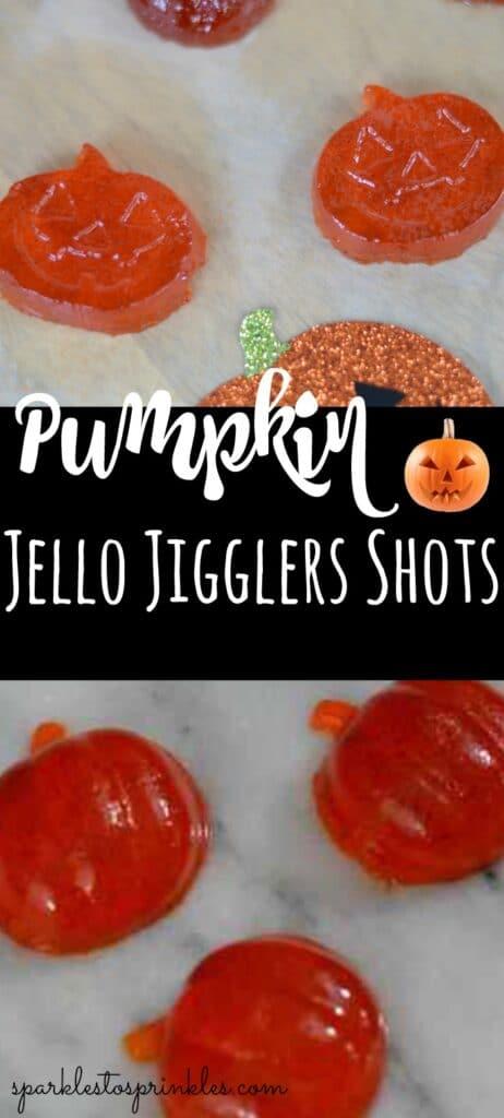 Pumpkin Jello Jigglers Shots