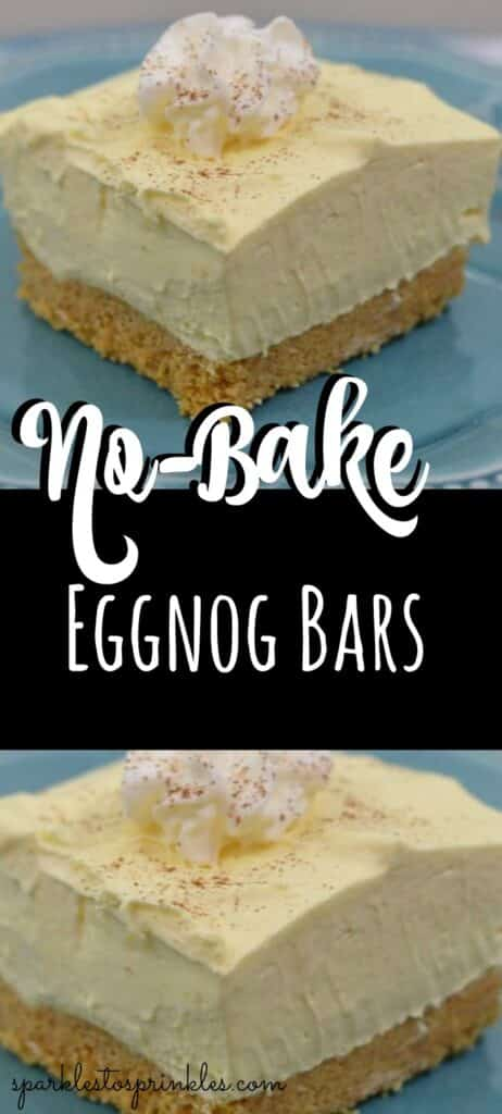 No-Bake Eggnog Bars