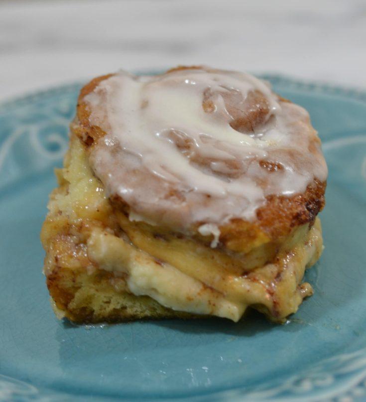 Cheesecake Stuffed Cinnabon Cinnamon Roll Bake