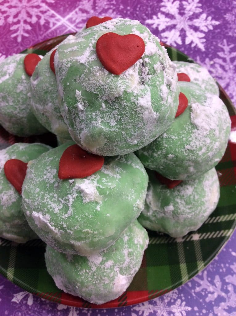 Grinch Snowball Cookies 3
