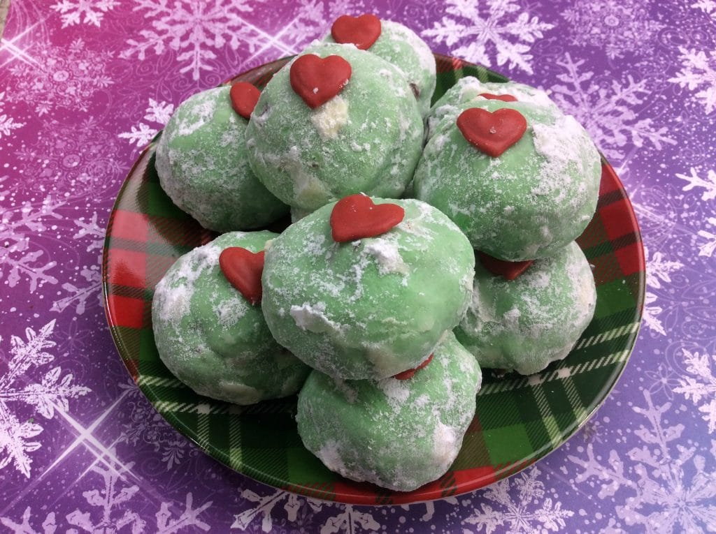 Grinch Snowball Cookies 2