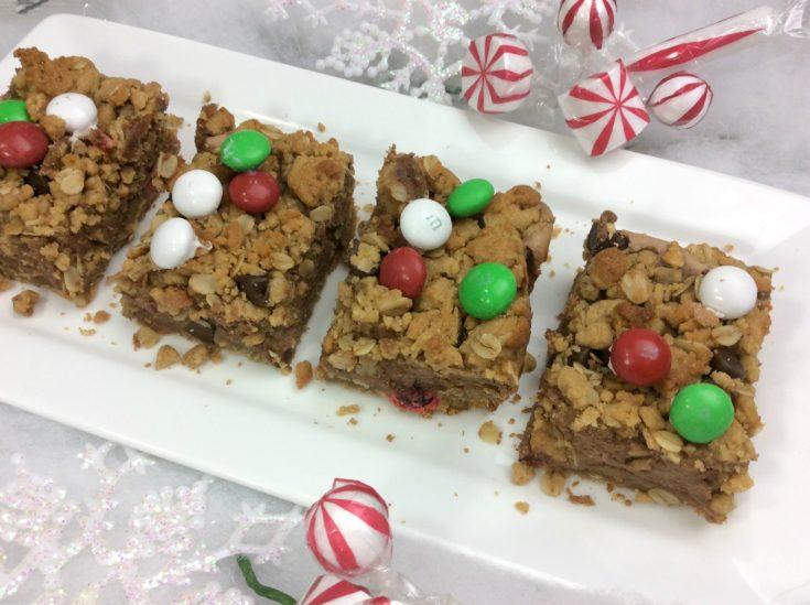 Monster Christmas Cookie Bars