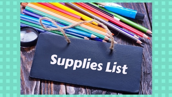 Supplies List