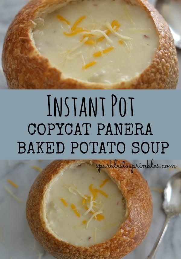 Instant Pot Copycat Panera Baked Potato Soup