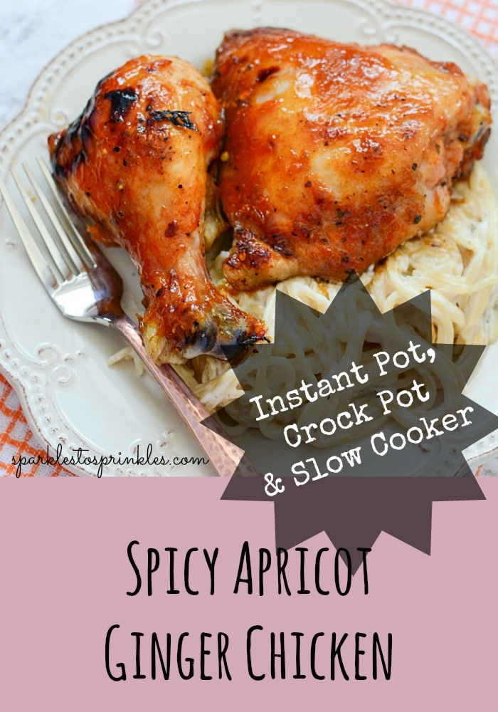 Instant Pot, Crock Pot & Slow Cooker Spicy Apricot Ginger Chicken