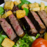 Steak Salad featuring the Worlds Best Steak Marinade!