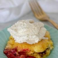 Intant Pot Cherry Cheesecake Dump Cake