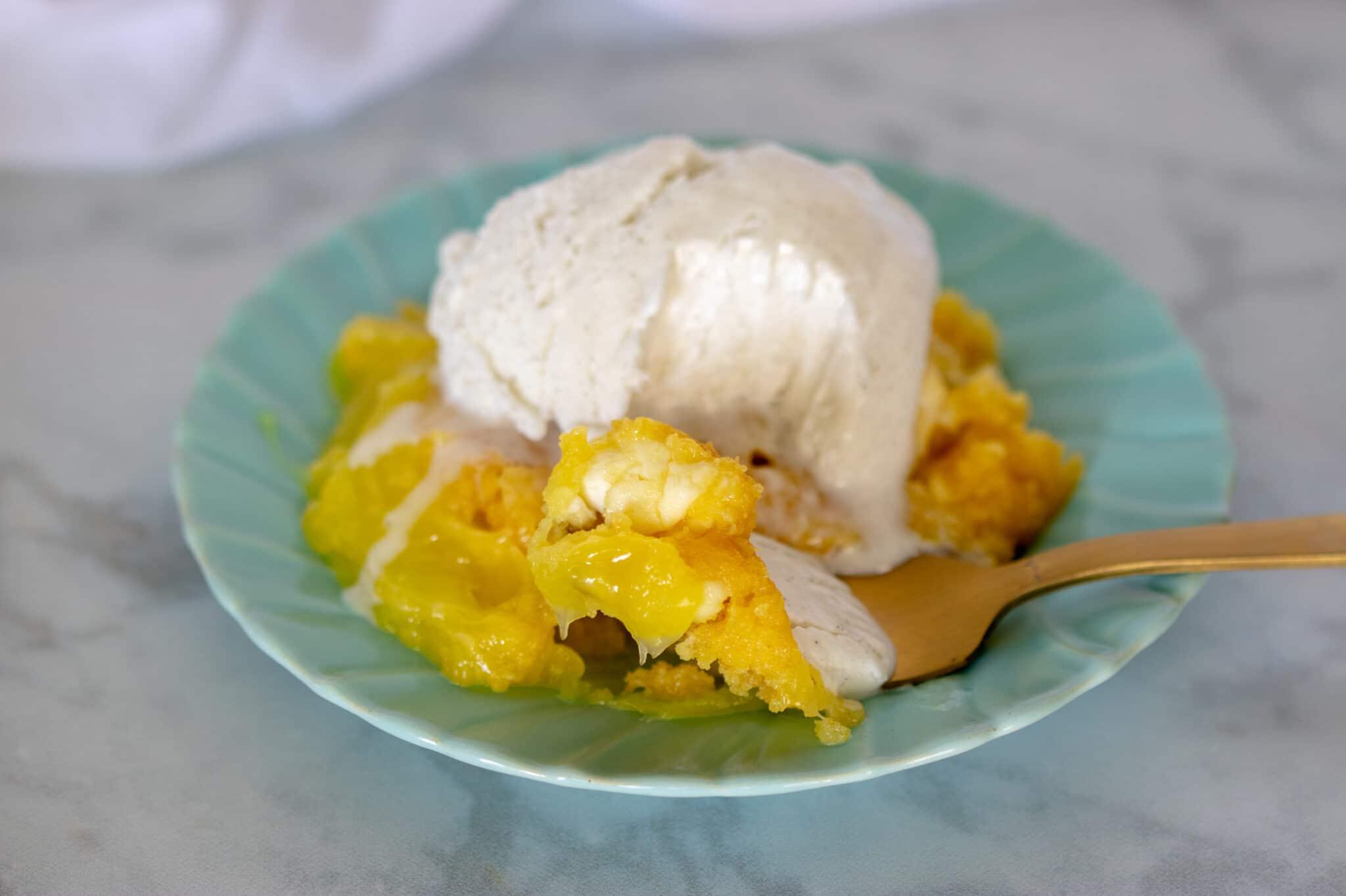 Instant Pot Lemon Cream Cheese Dump Cake
