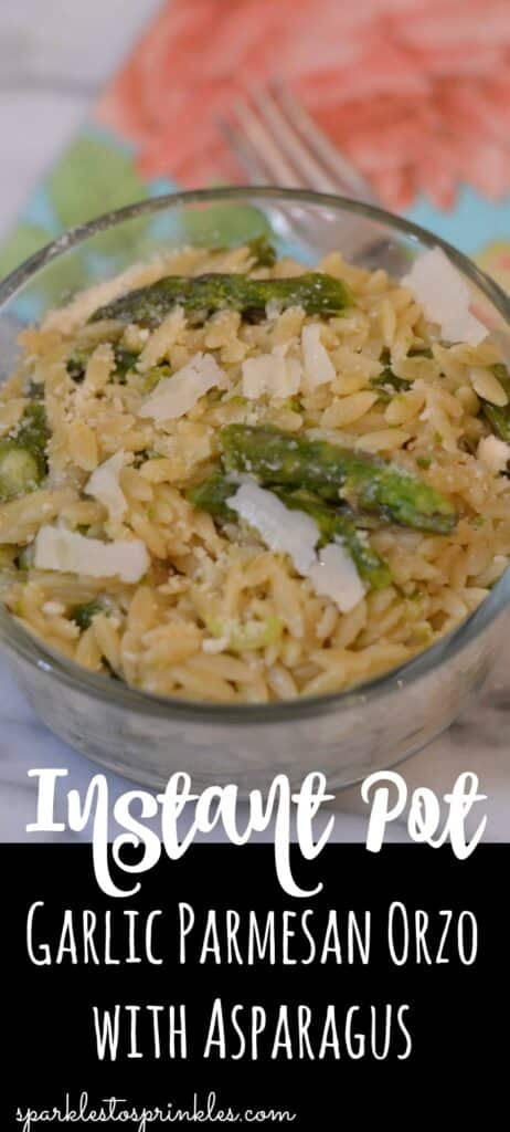 Instant Pot Garlic Parmesan Orzo With Asparagus