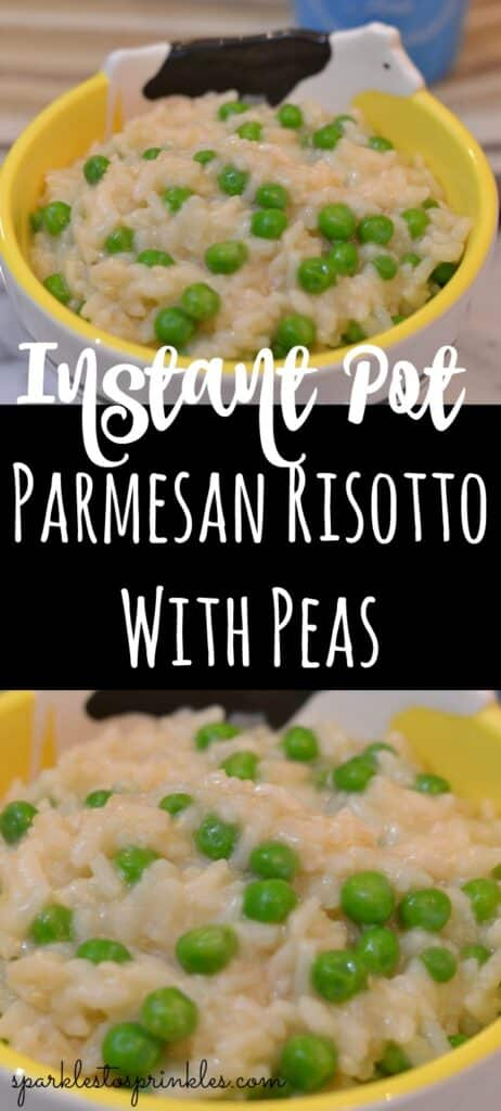 Instant Pot Parmesan Risotto With Peas