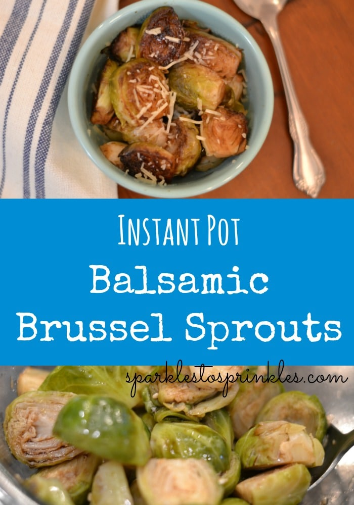 Instant Pot Balsamic Brussel Sprouts