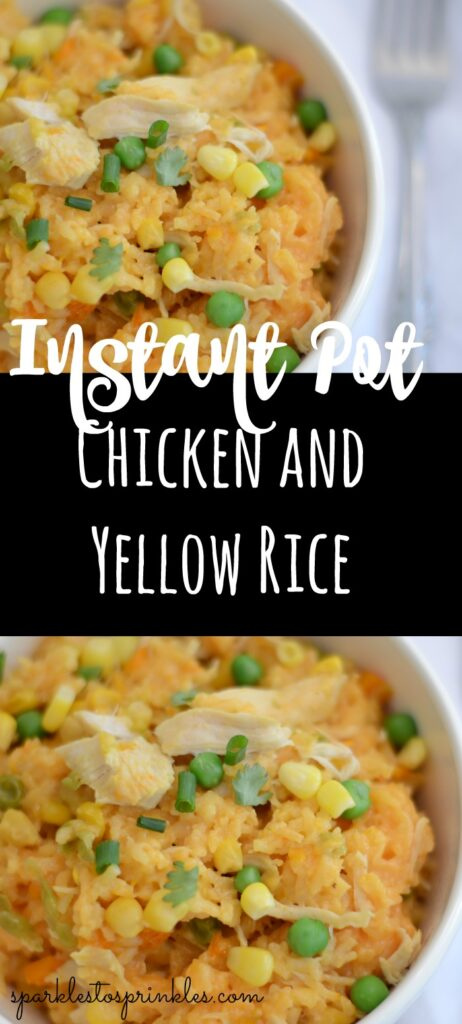 Instant Pot Chicken and Yellow Rice