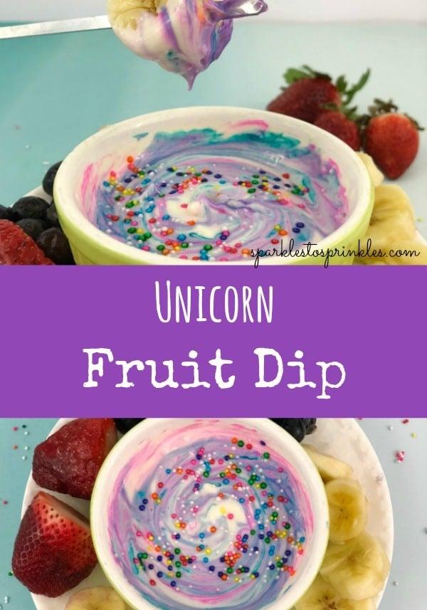unicorn fruit dip pin