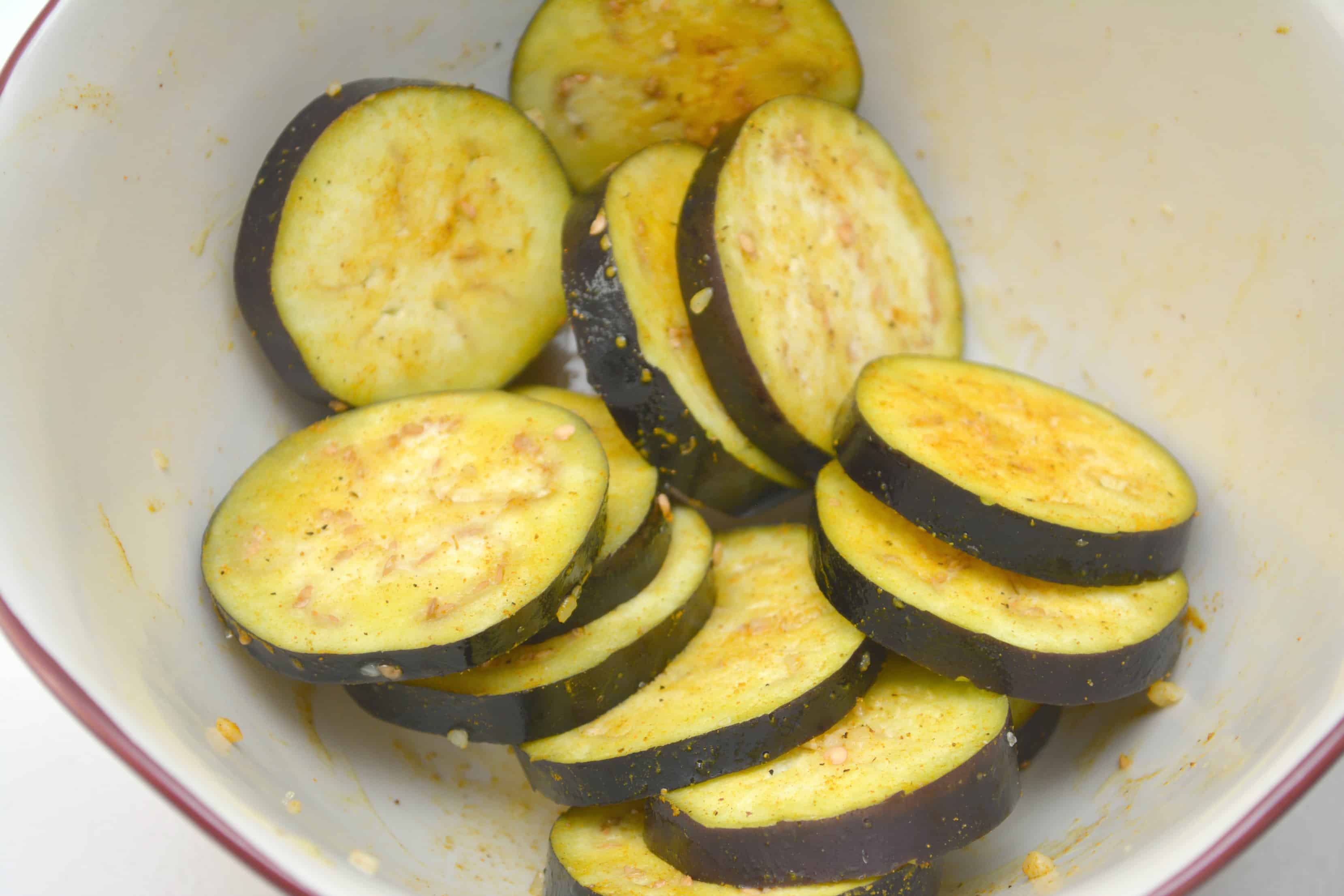 Air Fryer Curried Eggplant