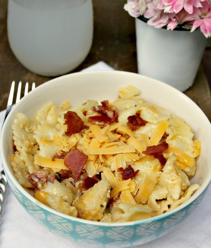 Instant Pot Chicken Bacon Ranch Pasta Casserole