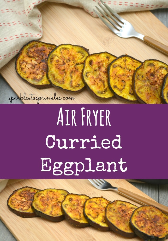 Air Fryer Curried Eggplant