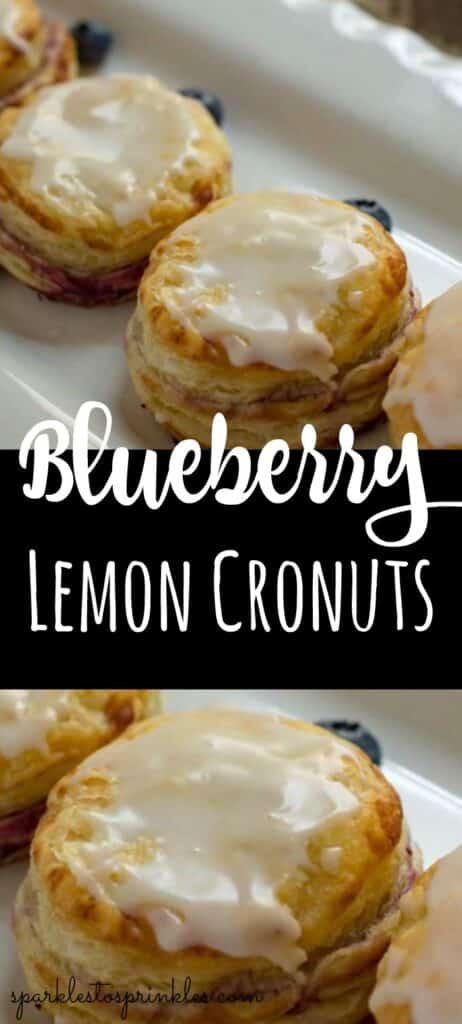 Blueberry Lemon Cronuts