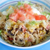 Instant Pot Shredded Chicken Burrito Bowl