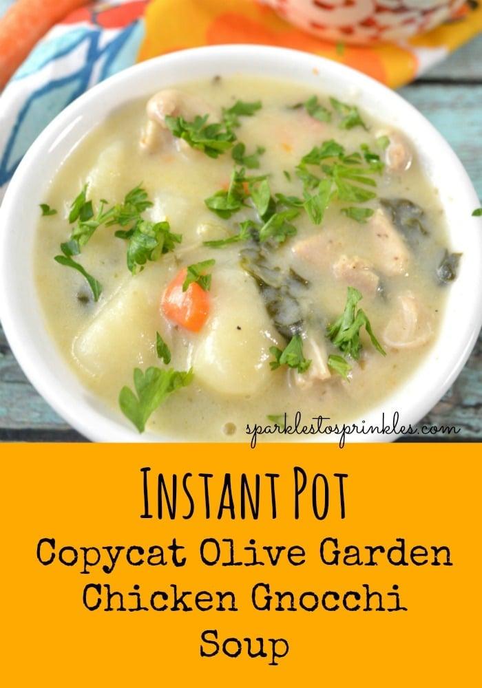 Instant Pot Copycat Olive Garden Chicken Gnocchi Soup