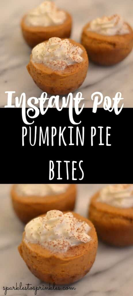 Instant Pot Pumpkin Pie Bites