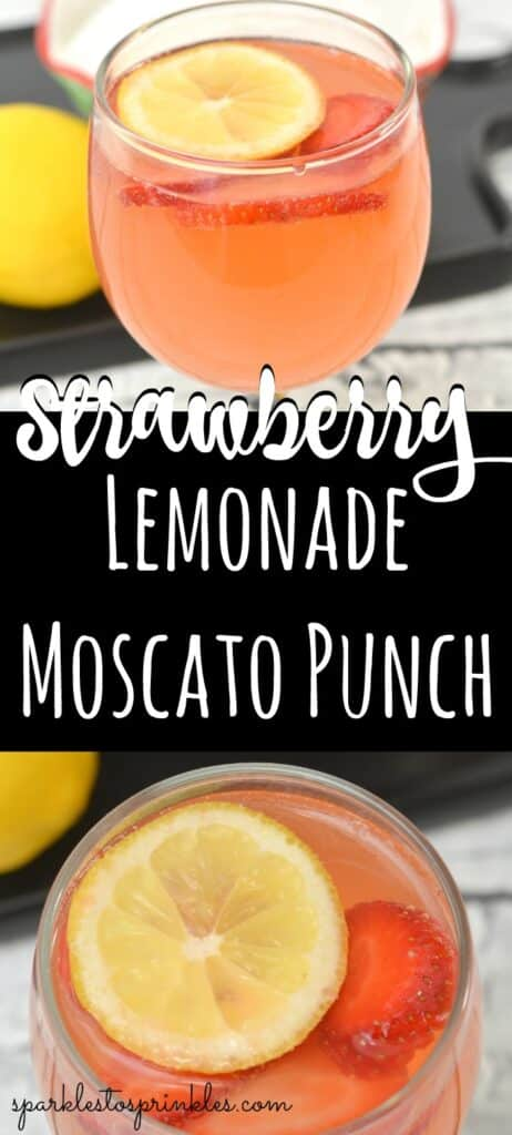 Strawberry Lemonade Moscato Punch