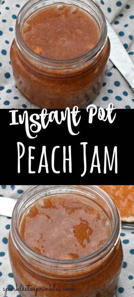 Instant Pot Peach Jam