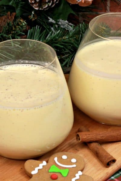Gingerbread Eggnog Cocktail