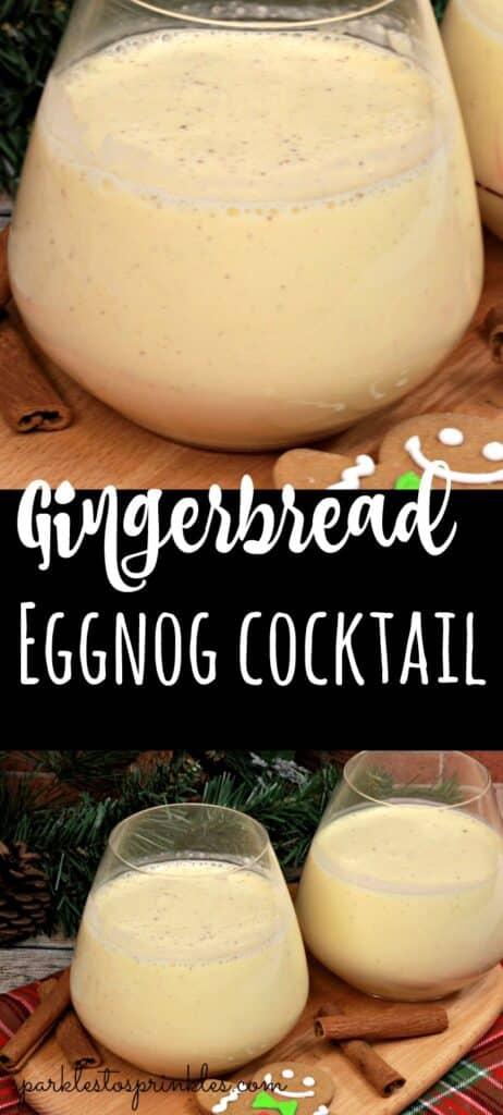 Gingerbread Eggnog Cocktail