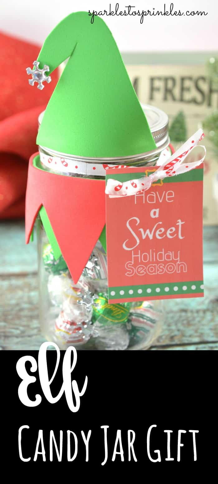 Elf Candy Jar Gift Sparkles To Sprinkles