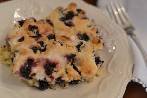 Ninja Foodi Buttermilk Blueberry Breakfast Cake