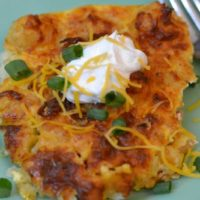 Ninja Foodi Cracked Out Tater Tot Breakfast Casserole