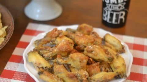 Ninja Foodi Or Air Fryer Crispy Chicken Wings Sparkles To Sprinkles