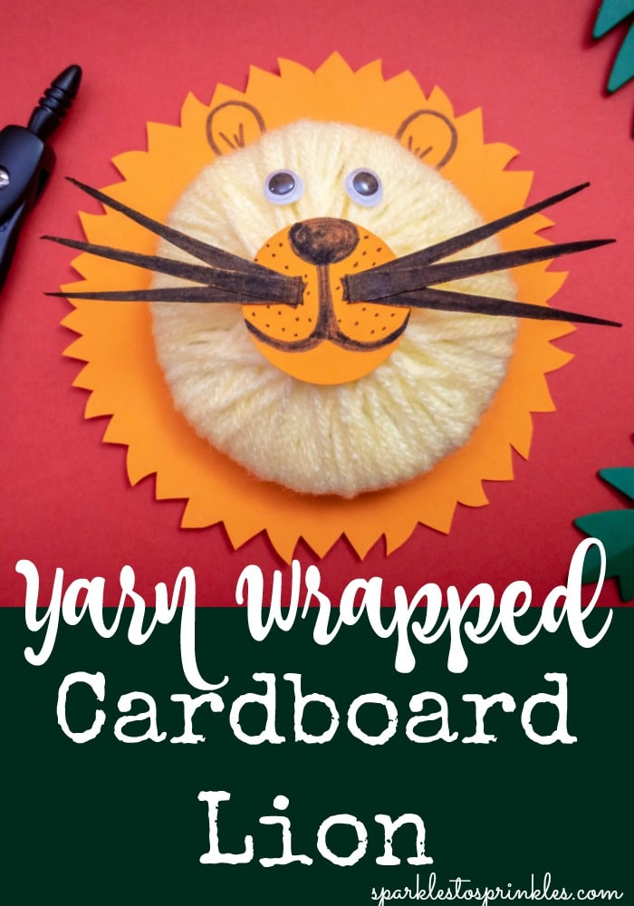 Yarn Wrapped Cardboard Lion