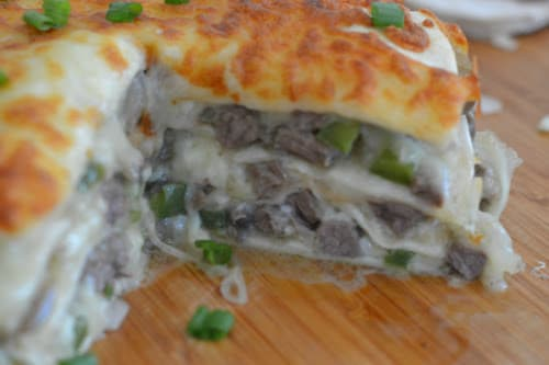 Ninja Foodi or Air Fryer Philly Cheese Steak Pie